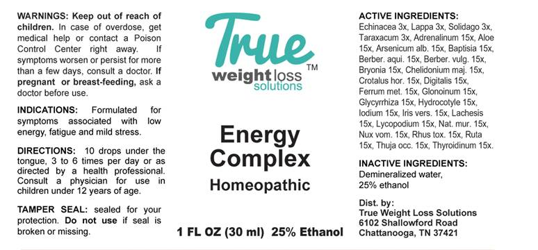 Energy Complex - True Weight Loss Solutions: Package Insert
